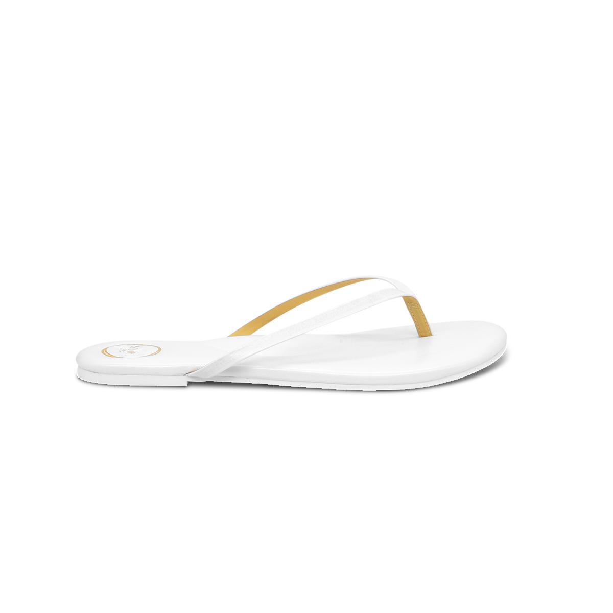 Solei Sea White Yellow Flip Flop