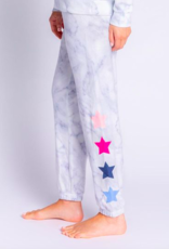PJ Salvage True Color Star Banded Pant