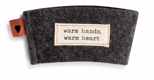 Demdaco Warm Heart Coffee Cozies - Assorted Styles