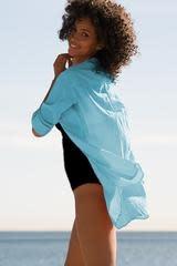 Helen Jon Relaxed Shirt Dress Aqua