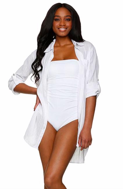 Helen Jon Relaxed Shirt Dress White