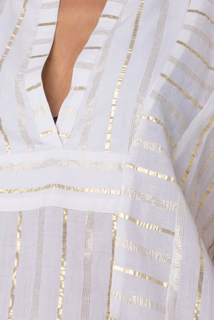 Helen Jon Metallic Stripe Tunic