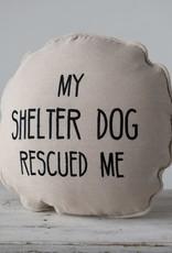 Dog Rescue Round Pillow