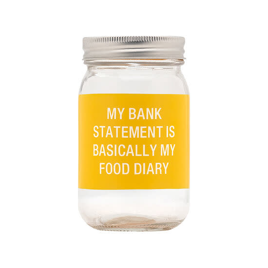 About Face Food Diary Glass Bank