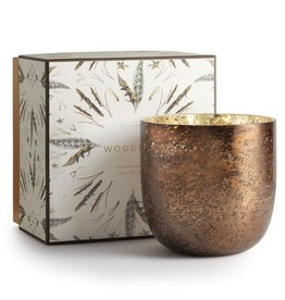 Illume Woodfire Luxe Sanded Mercury Glass Candle