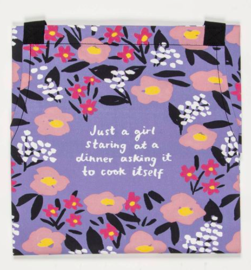 Blue Q Just a Girl Staring at Dinner Apron