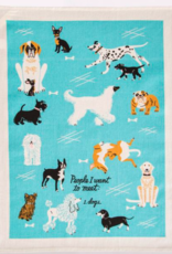 Blue Q People I Want To Meet: Dogs Dish Towel