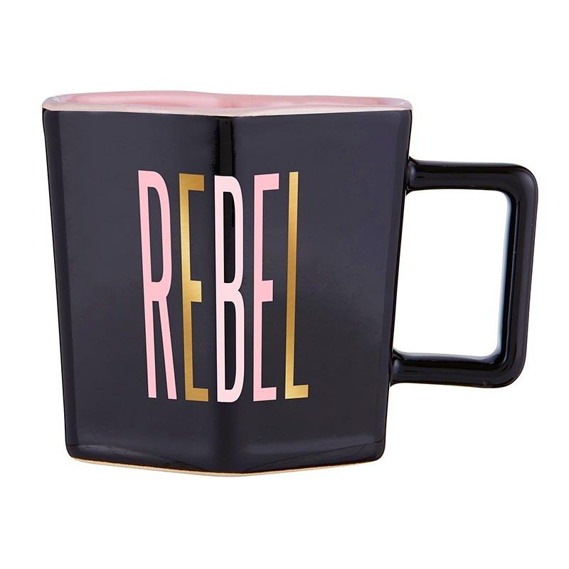Slant Hexagon Mug & Saucer Set - Rebel