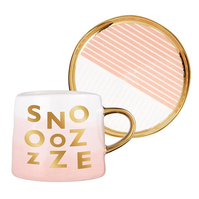 Slant Artisanal Mug & Saucer Set - Snooze
