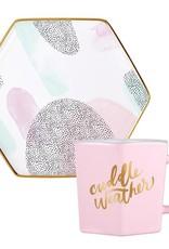 Slant Hexagon Mug & Saucer Set - Cuddle Weather