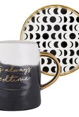 Slant Artisanal Mug & Saucer Set - It's Always Bedtime