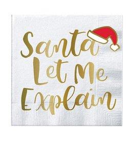 Slant Santa Let Me Explain Napkins 20 CT