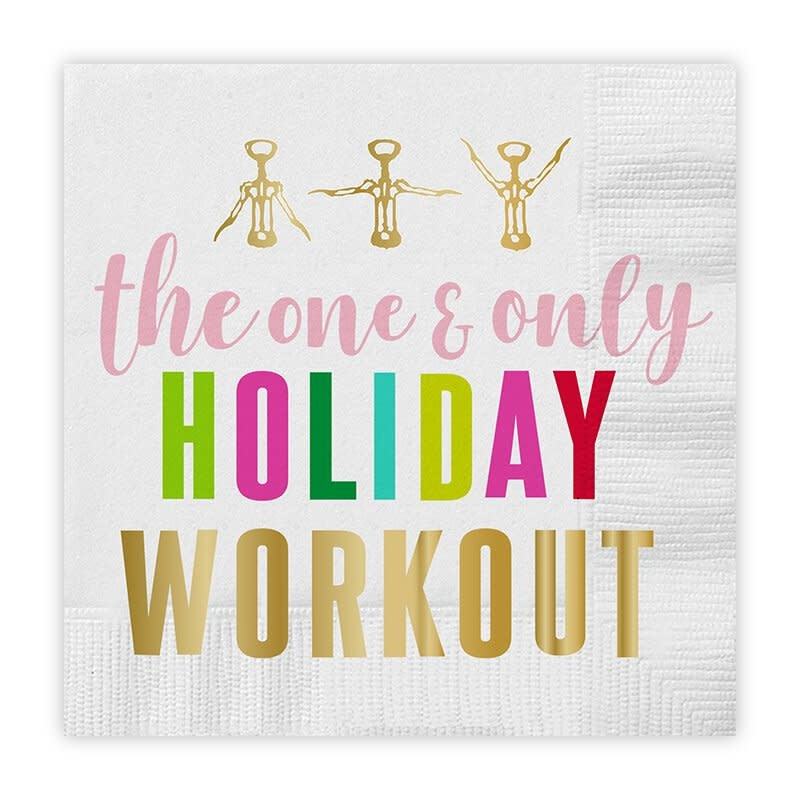 Slant Holiday Workout Napkins 20 CT
