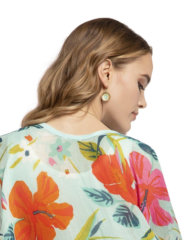 Spartina Dune Earrings Gold/Aqua