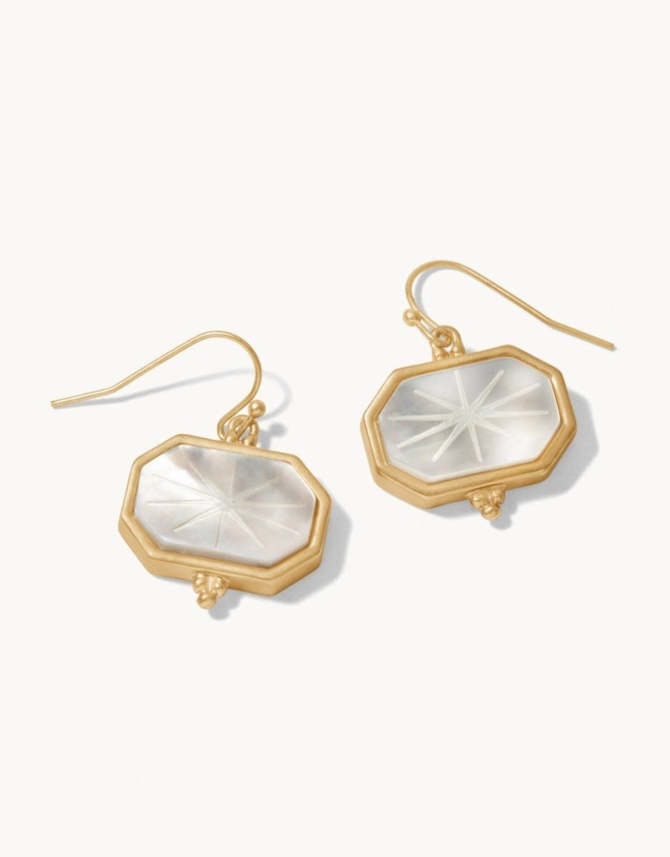 Spartina Window Carved Earrings