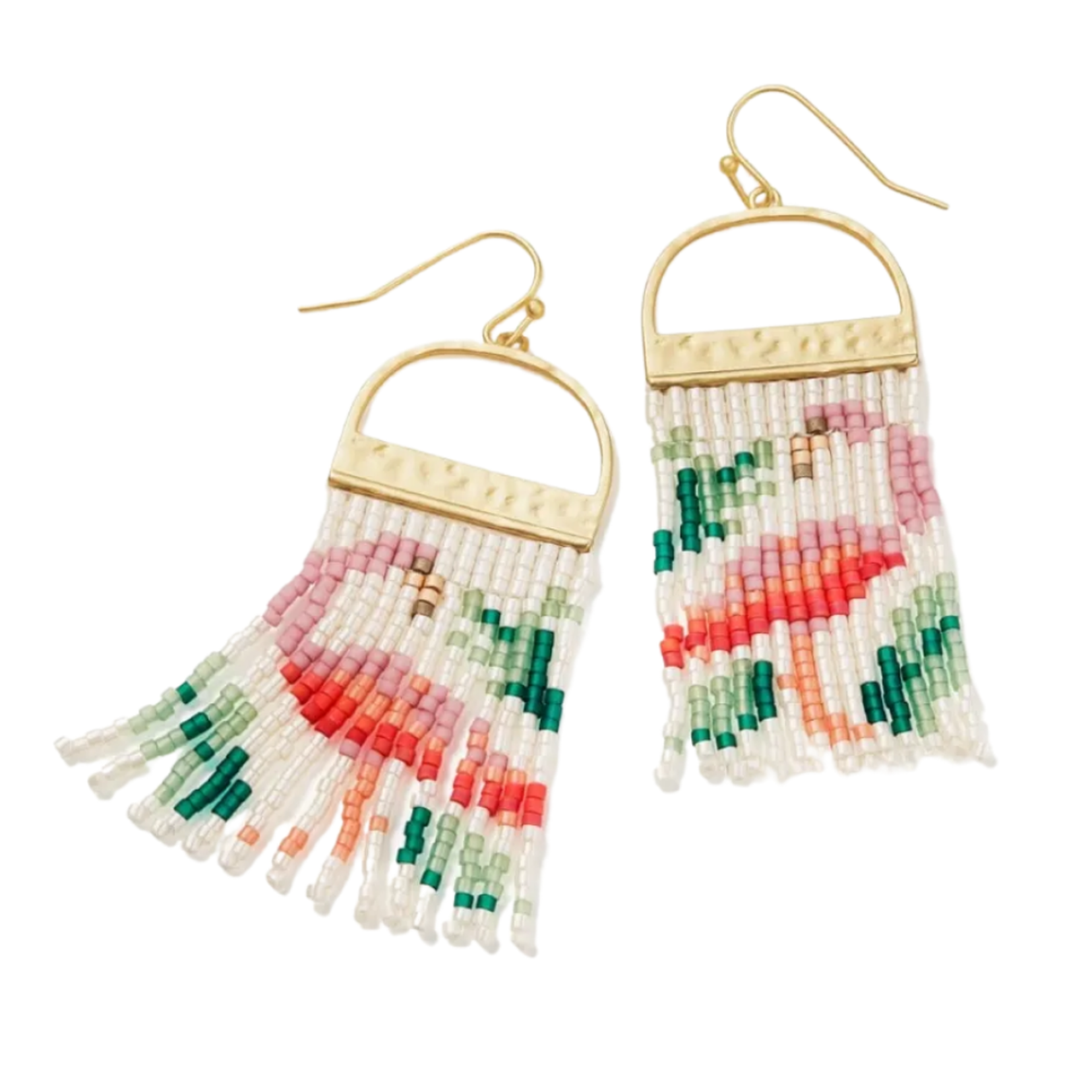 Spartina Bitty Bead Earrings Flamingo