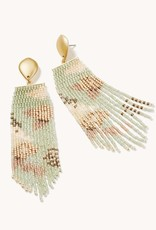 Spartina Bitty Bead Earrings Salt Marsh Blue
