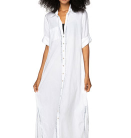 Boyfriend Maxi Dress White/Silver