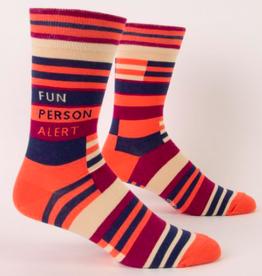 Blue Q Fun Person Alert Men's Socks