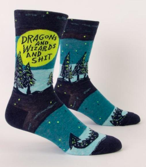 Blue Q Dragons & Wizards Men's Socks