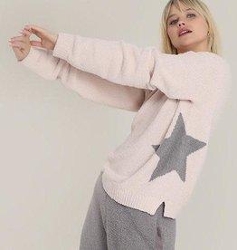 Hello Nite Star Sweater Blush