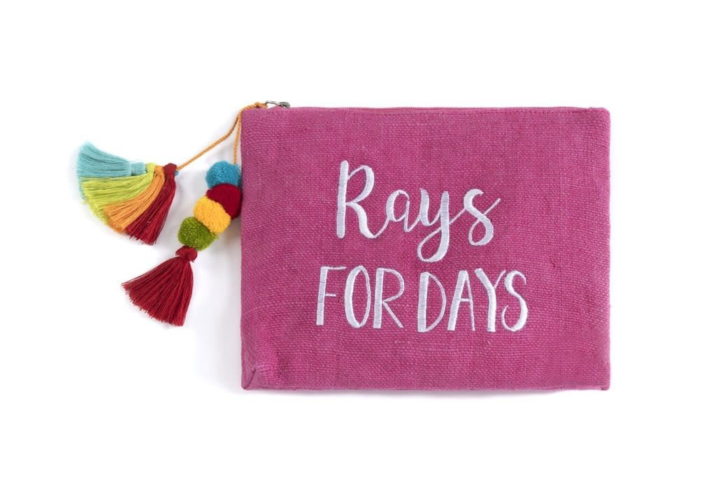 """Shiraleah """"Rays For Days"""" Zip Pouch"""