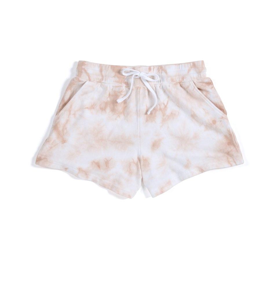 Shiraleah Cali Tie Dye Shorts Blush