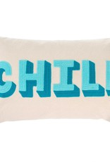 Indaba Chill Embroidered Pillow
