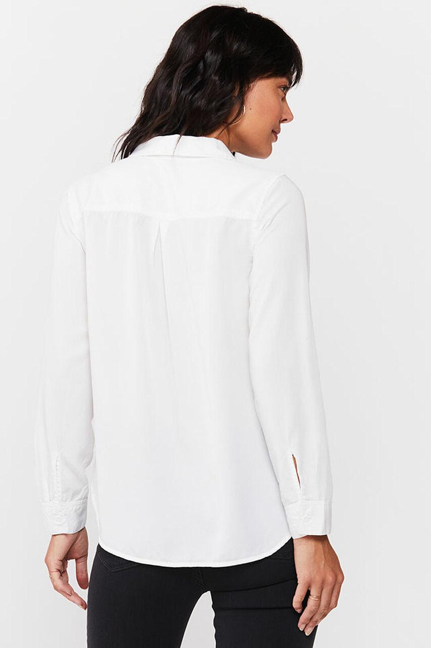 Velvet Heart Bennett Braided Button-Up Shirt White