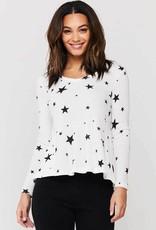 Velvet Heart Suzette Thermal Knit Stars Top
