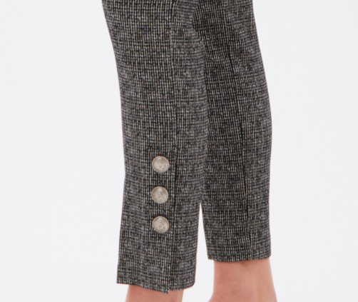 Up Ankle Pant Lurex w/ Buttons
