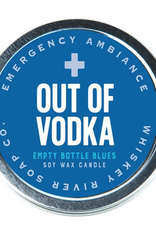 Whiskey River Out of Vodka Emergency Ambiance Travel Tin