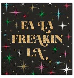 Slant Fa La Freakin La Napkins 20 CT