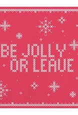 Slant Be Jolly or Leave Napkins 20 CT