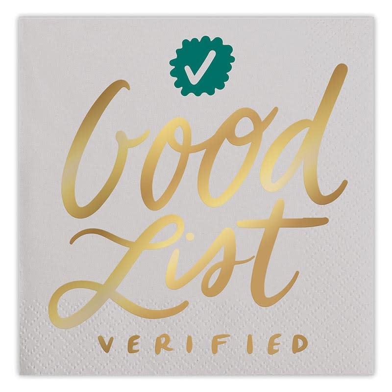 Slant Good List Verified Napkins 20 CT