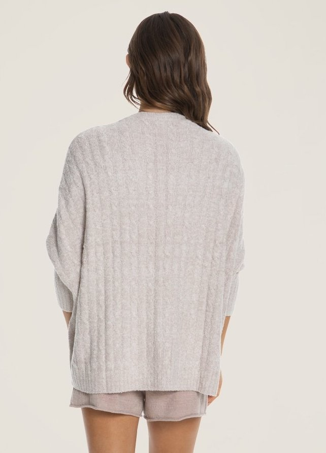Barefoot Dreams Cable Shrug Rose Pearl