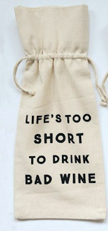 Cotton Wine Bag 6 Sayings