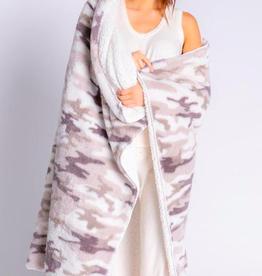 PJ Salvage Cozy Camo Blanket