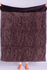 PJ Salvage Cozy Leopard Blanket