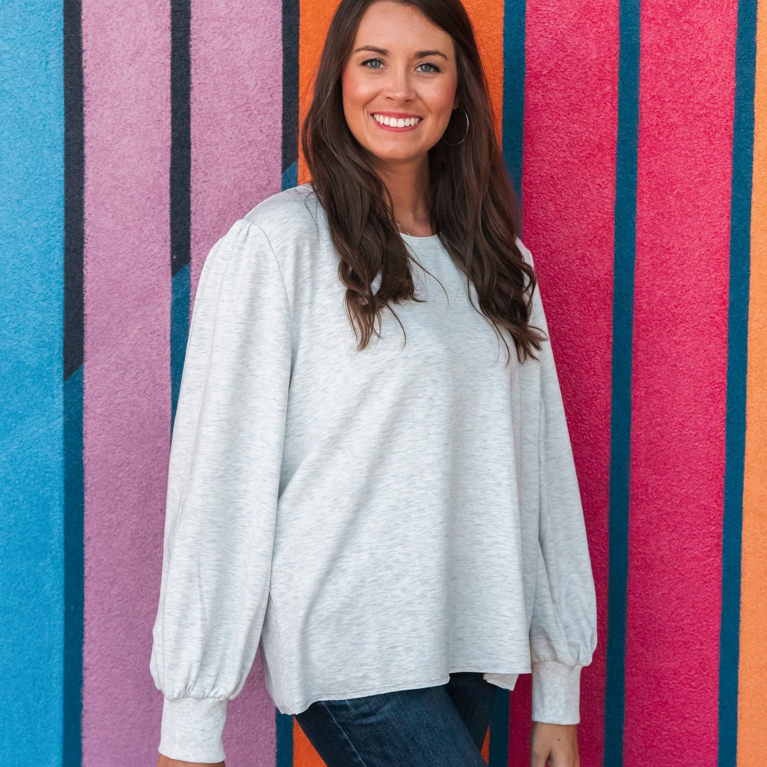 Mary Square Chadwick Knit Top