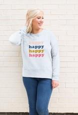 Mary Square Happy Sweatshirt