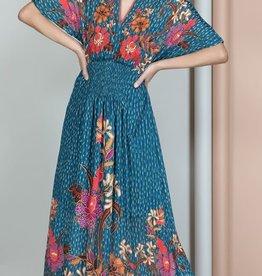 Blank Abriya Dress Teal Floral