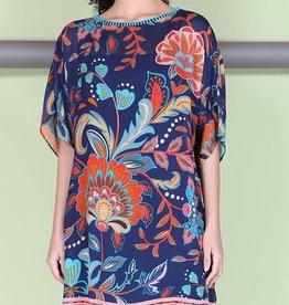 Blank Aleena Dress Navy Floral
