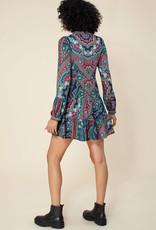 Hale Bob L/S Dress Emerald