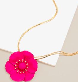 Zenzii Painted Poppy Necklace