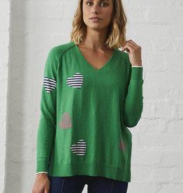 Zaket & Plover Parsley Heart Sweater