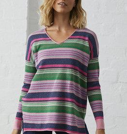 Zaket & Plover Textured Flamingo Sweater
