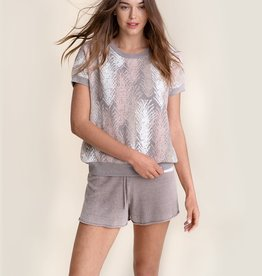 Barefoot Dreams CozyChic Top Feathers