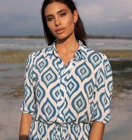 Skemo Skemo Java Shirt Dress Blue