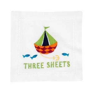 August Morgan Three Sheets Cocktail Napkins Set of 4